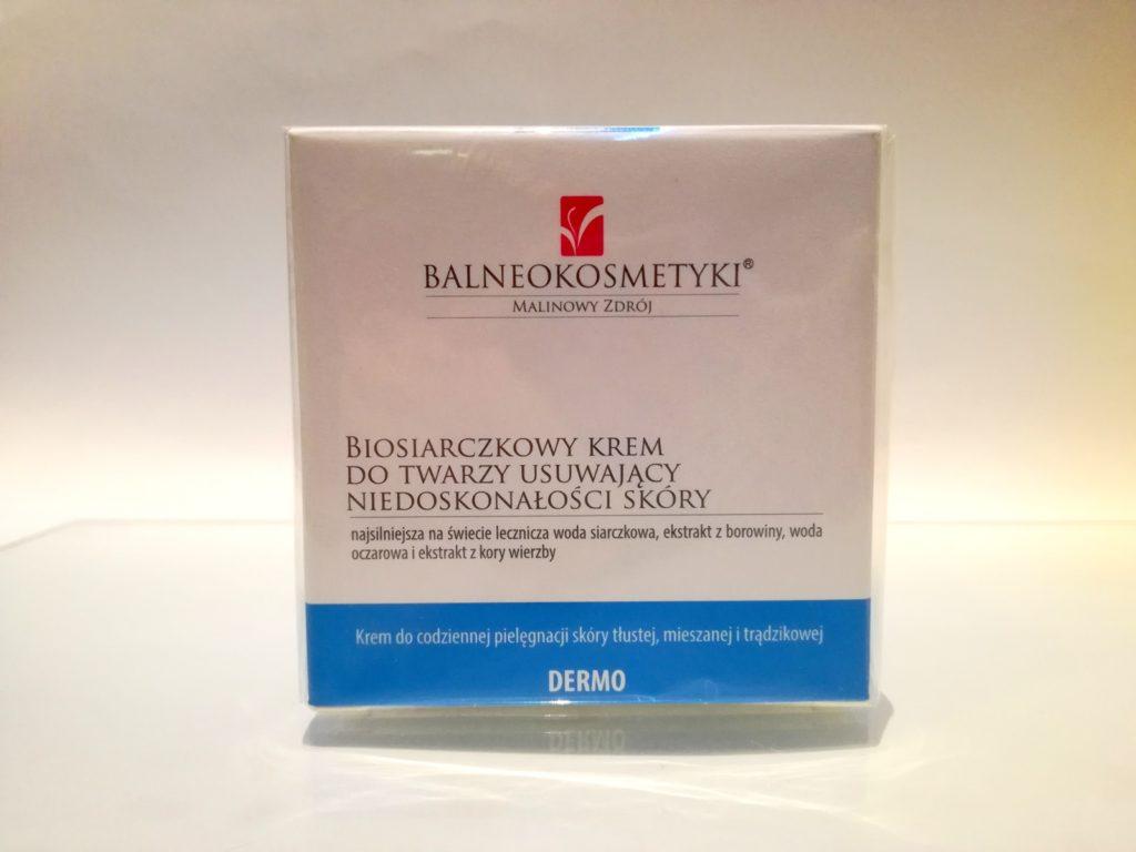 Biosiarczkowy krem do twarzy usuwający niedoskonałości skóry
