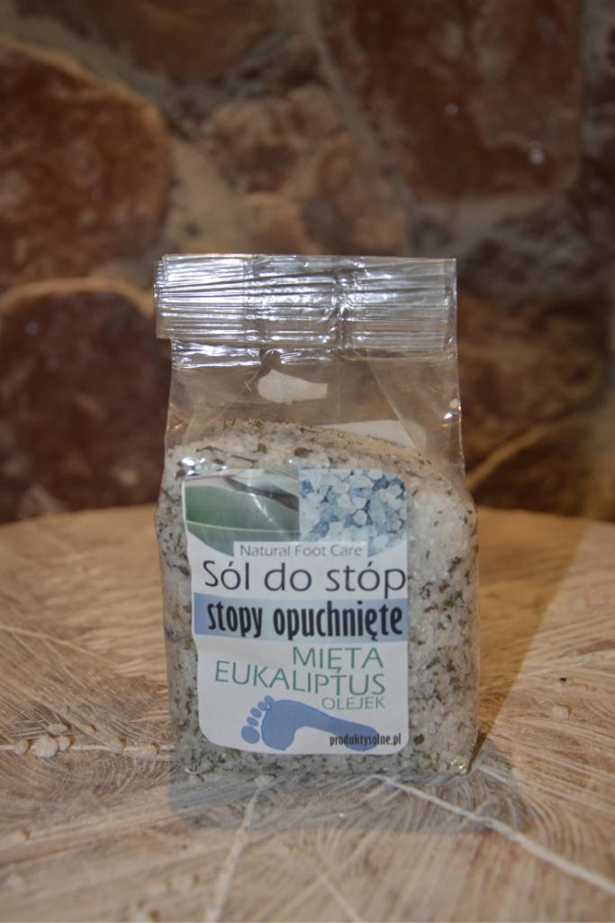 sól do opuchniętych stóp