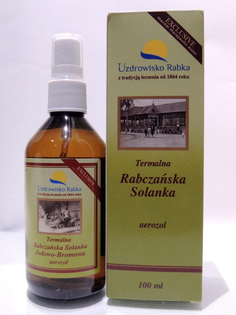 Termalna Rabczańska solanka jodowo-bromowa w areozolu